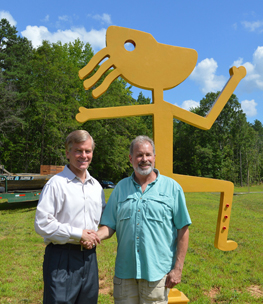Marc & Governor McDonnell's Dedication of Chief Powhatan Sculpture
